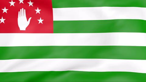 Flag Of Abkhazia Stock Video Footage