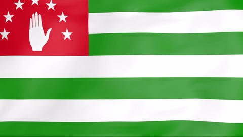 Flag Of Abkhazia Stock Video Footage
