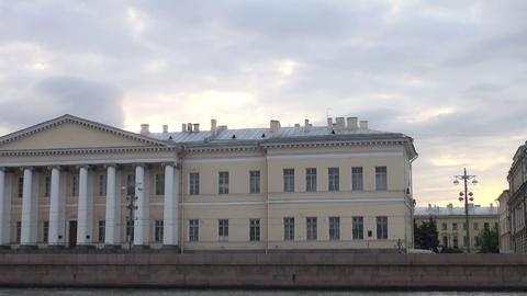 Academy of Sciences in St. Petersburg Stock Video Footage