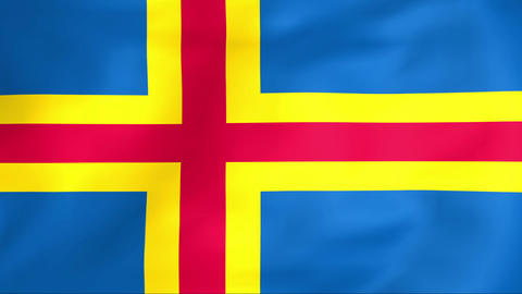 Flag Of Aland islands Animation