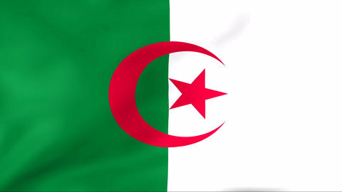 Flag Of Algeria Stock Video Footage