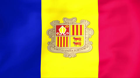 Flag Of Andorra Animation