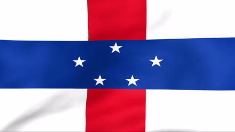 Flag Of Netherlands Antilles Stock Video Footage