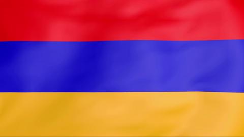 Flag Of Armenia Stock Video Footage