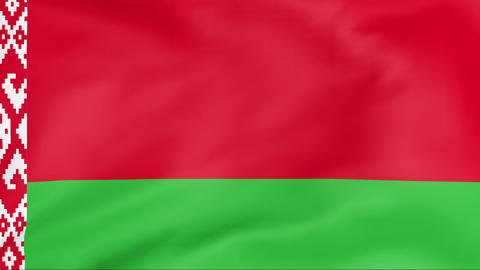 Flag Of Belarus Stock Video Footage