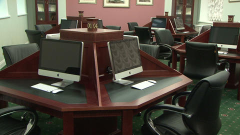 library with computers Stock Video Footage