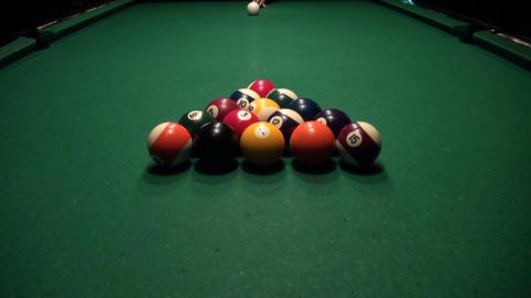 American Billiards Stock Video Footage