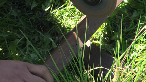 Working with the grinder Stock Video Footage