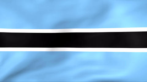Flag Of Botswana Stock Video Footage