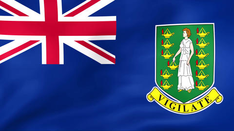 Flag Of British Virgin Islands Stock Video Footage