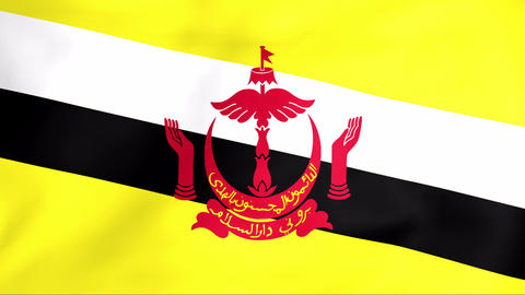 Flag Of Brunei Animation