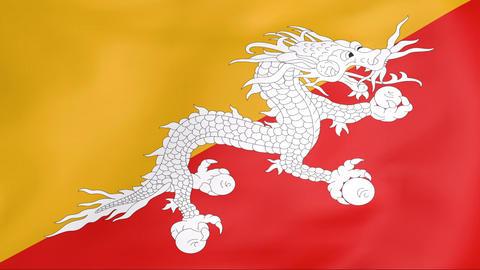 Flag Of Bhutan Animation
