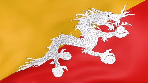 Flag Of Bhutan Stock Video Footage
