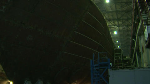 Plant for the production of submarines and ships Stock Video Footage