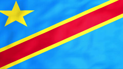 Flag Of Democratic Republic Of The Congo Stock Video Footage