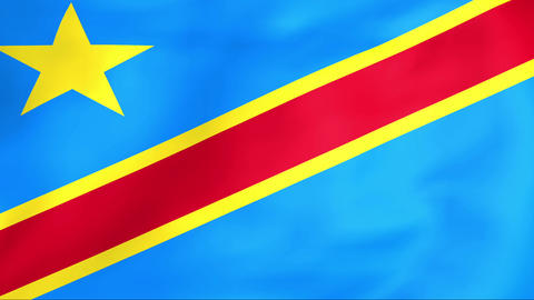 Flag Of Democratic Republic Of The Congo Animation
