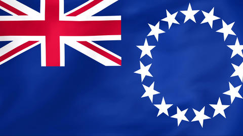 Flag Of Cook Islands stock footage