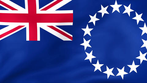 Flag Of Cook Islands Stock Video Footage