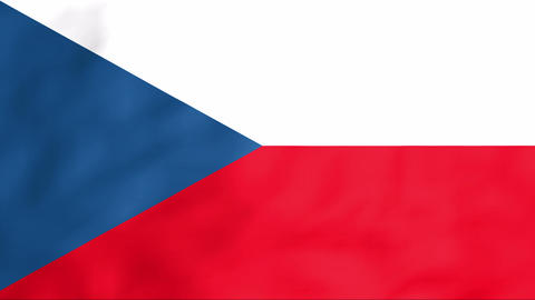 Flag Of Czechia Stock Video Footage