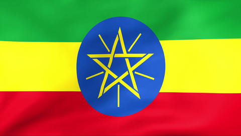 Flag Of Ethiopia Stock Video Footage