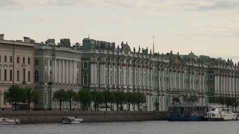 The Hermitage in St. Petersburg Stock Video Footage