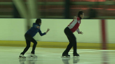 Pair figure skating. Training Footage