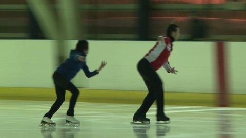 Pair figure skating. Training Footage