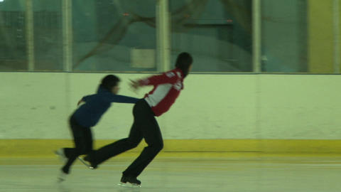 Pair figure skating. Training Stock Video Footage
