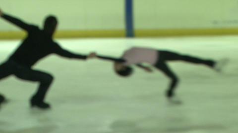 Pair figure skating. Training Stock Video Footage