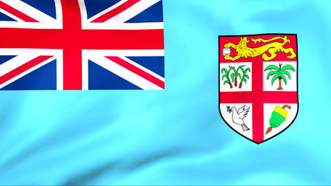 Flag Of Fiji Stock Video Footage