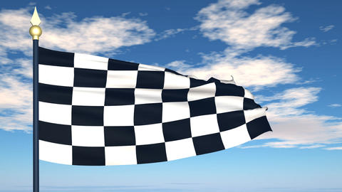 The Finish Flag stock footage