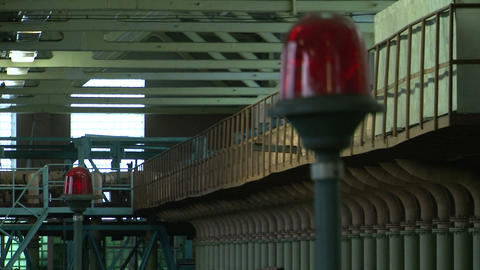 The flashing red lantern Stock Video Footage