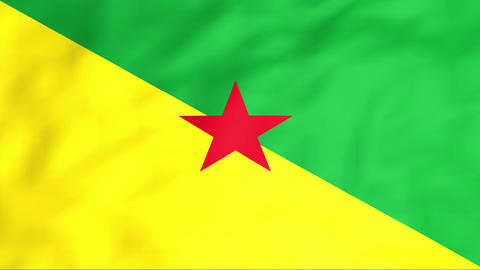 Flag Of Guyane Stock Video Footage
