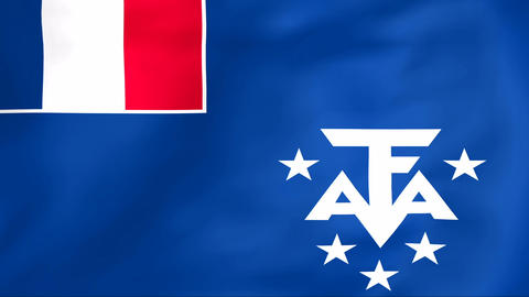 Flag Of French Southern And Antarctic Lands stock footage