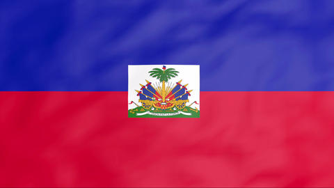 Flag Of Haiti Stock Video Footage