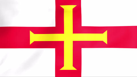 Flag Of Bailiwick of Guernsey Animation
