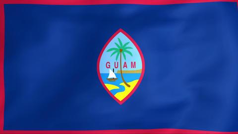Flag Of Guam Animation