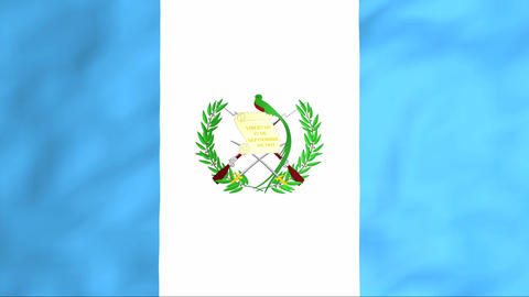 Flag Of Guatemala Stock Video Footage