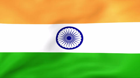 Flag Of India Stock Video Footage