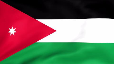 Flag Of Jordan Stock Video Footage