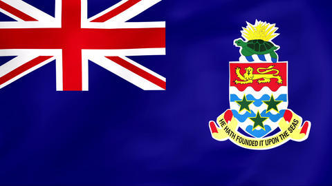 Flag Of Cayman Islands Stock Video Footage