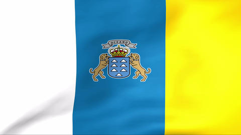 Flag Of Canarias Stock Video Footage