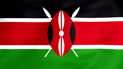 Flag Of Kenya Stock Video Footage