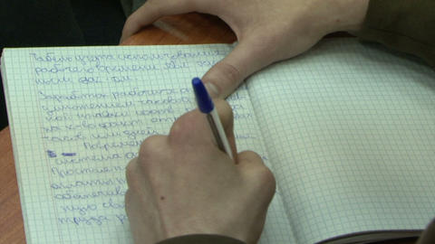 Write in notebook Stock Video Footage