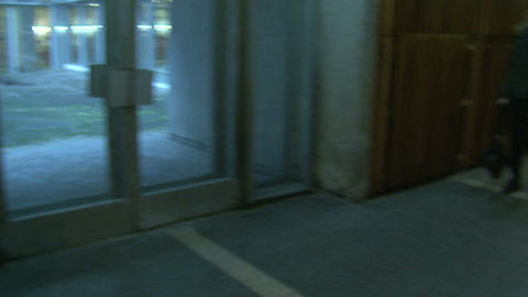 The corridor of the institute Stock Video Footage