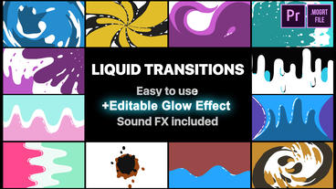 Fluid Motion Transitions Pack Motion Graphics Template