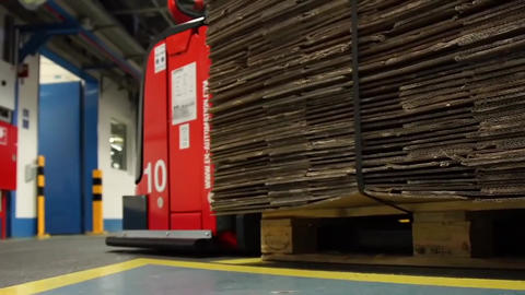 Industrial Interior, Modern Factory Interior, Electrical Automated Guided Footage
