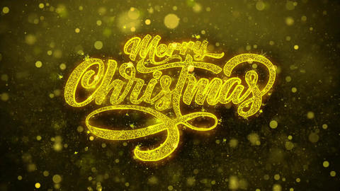 Merry Christmas Xmas Wishes Greetings card, Invitation, Celebration Firework Live Action