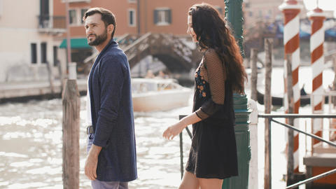 Love - romantic couple in Venice, Italy Stock Video Footage