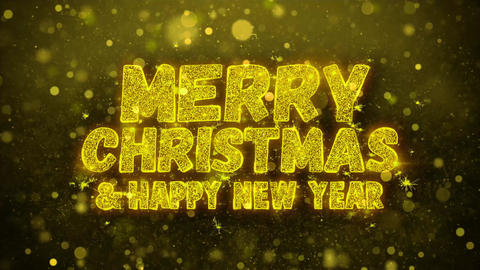 Merry Christmas and new year Wishes Greetings card, Invitation, Celebration Live Action